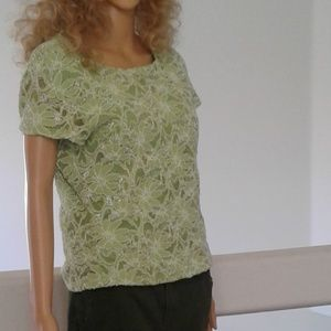 Lime green womans lace top